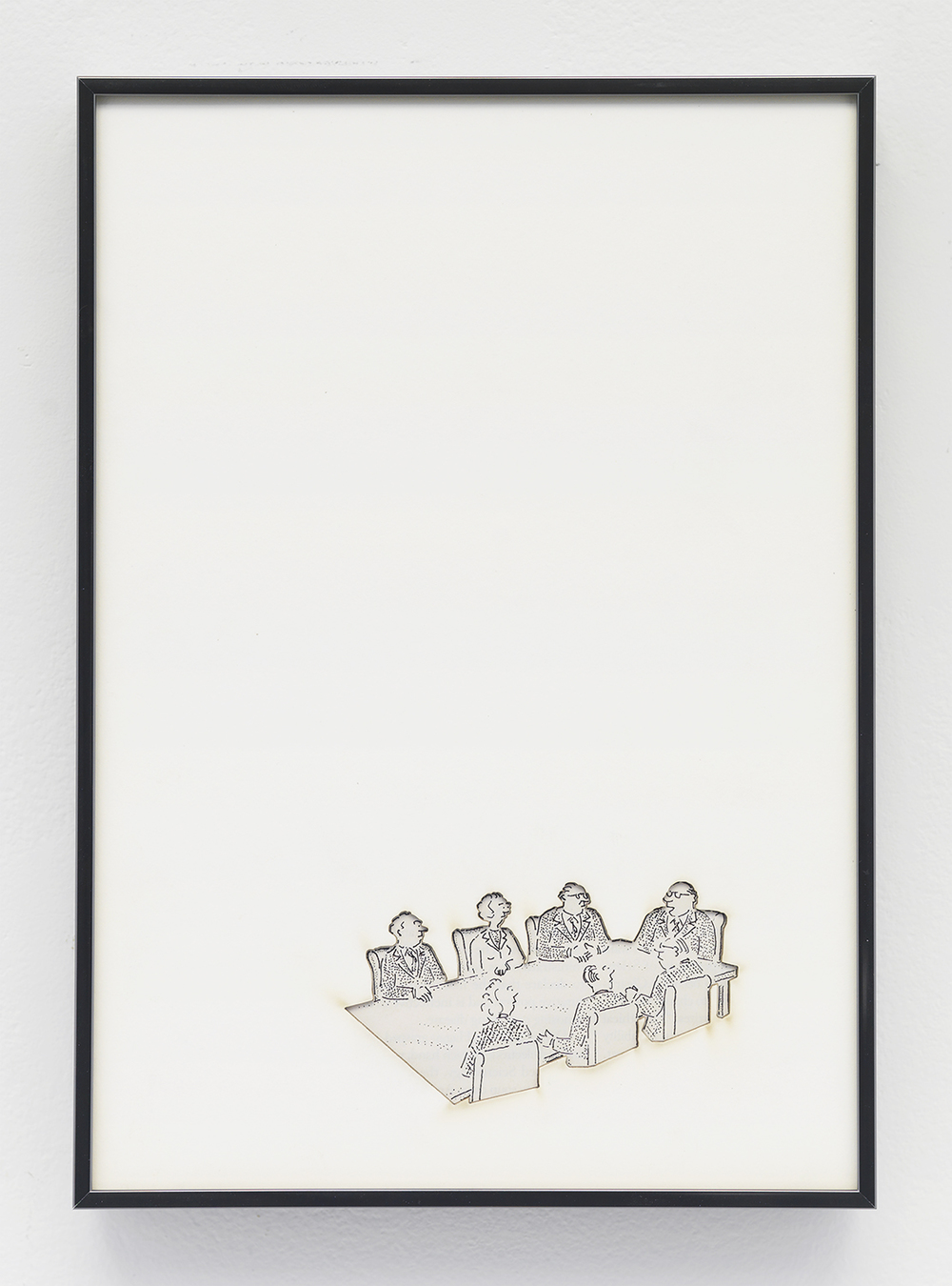 Artifact: Language Barrier (Jean Godefroy  )   2014   Cotton and paper in artist frame   11 x 8 inch  es
