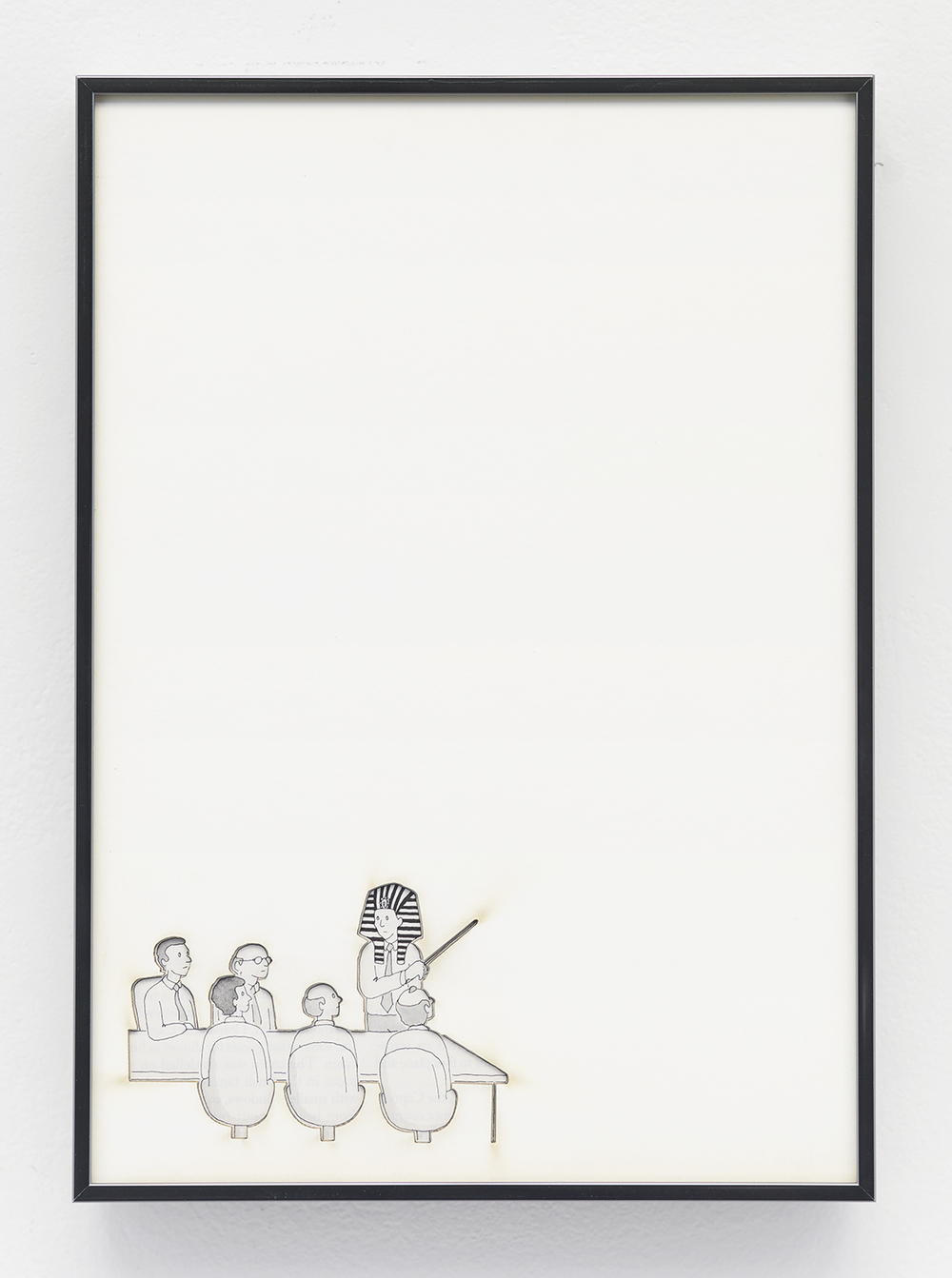 Artifact: Language Barrier (John Trumbull  )   2014   Cotton and paper in artist frame   11 x 8 inch  es