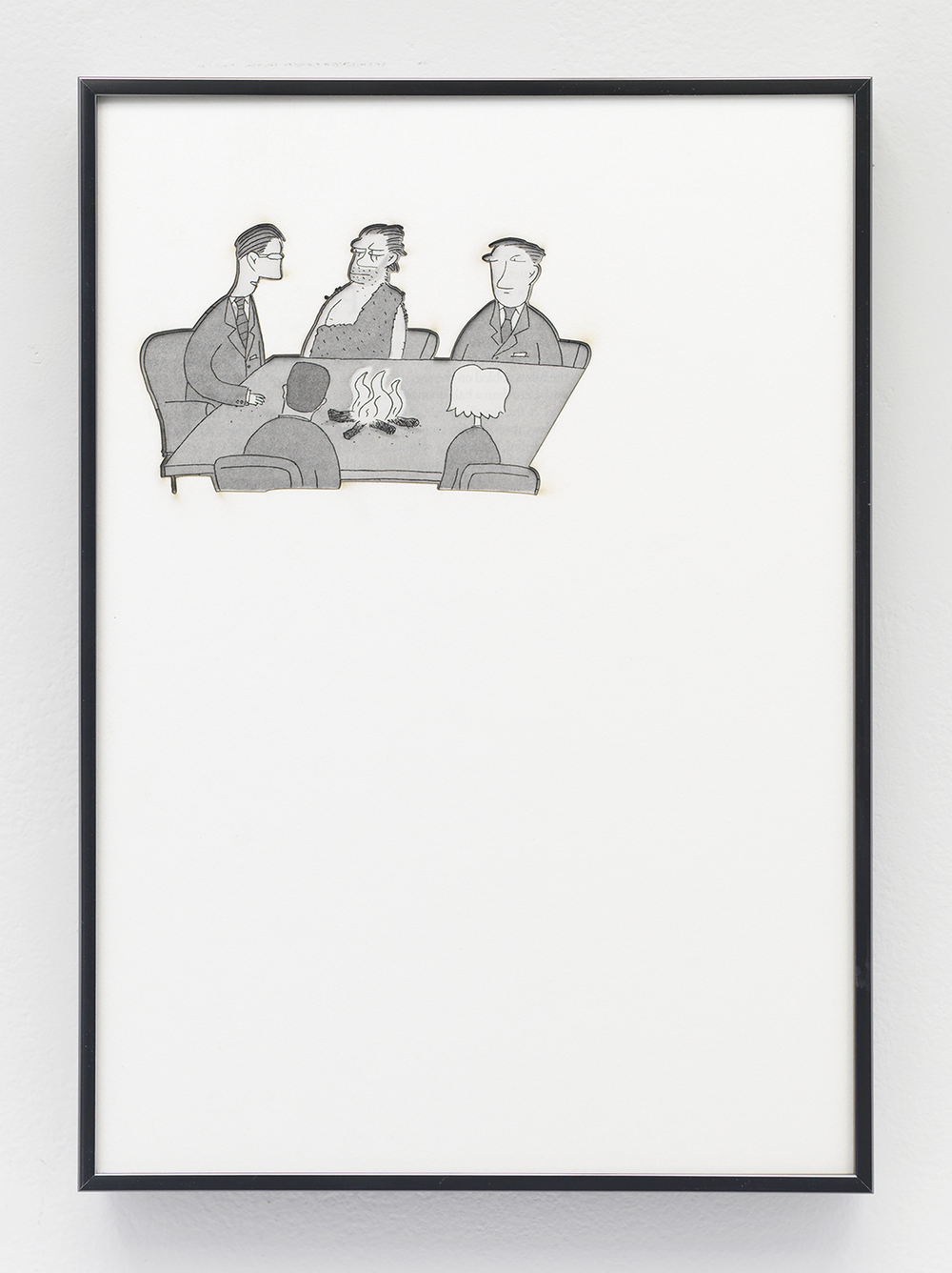Artifact: Language Barrier (Jennie Augusta Brownscombe) 2014 Cotton and paper in artist frame 11 x 8 inches