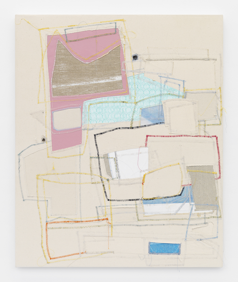 Jack Greer Inside Brian, 2014 Canvas, thread and latex paint 32 x 26 inches