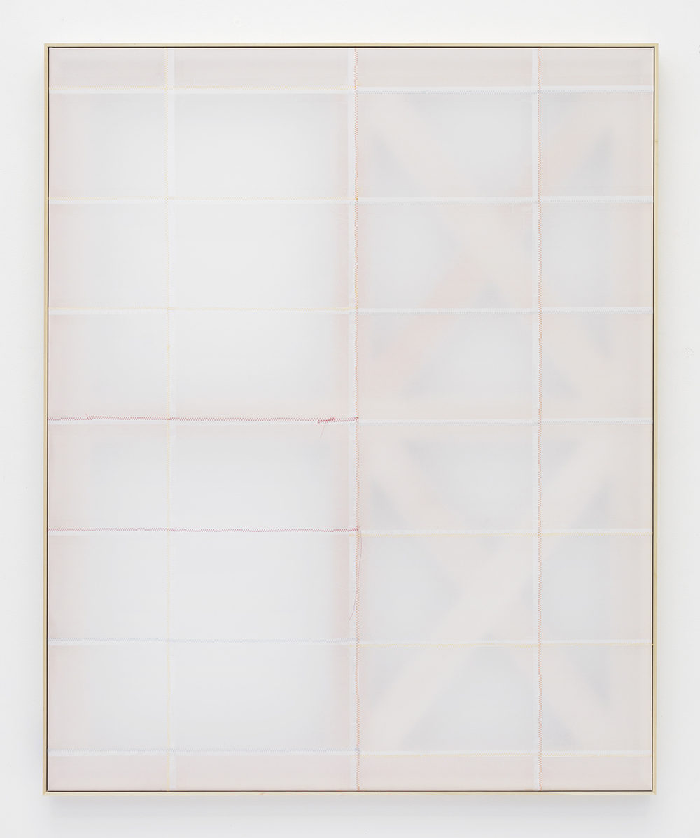 Jack Greer Phase 2:12, 2014 Paper, tape and thread on wood stretcher 54.75 x 44.75 inches