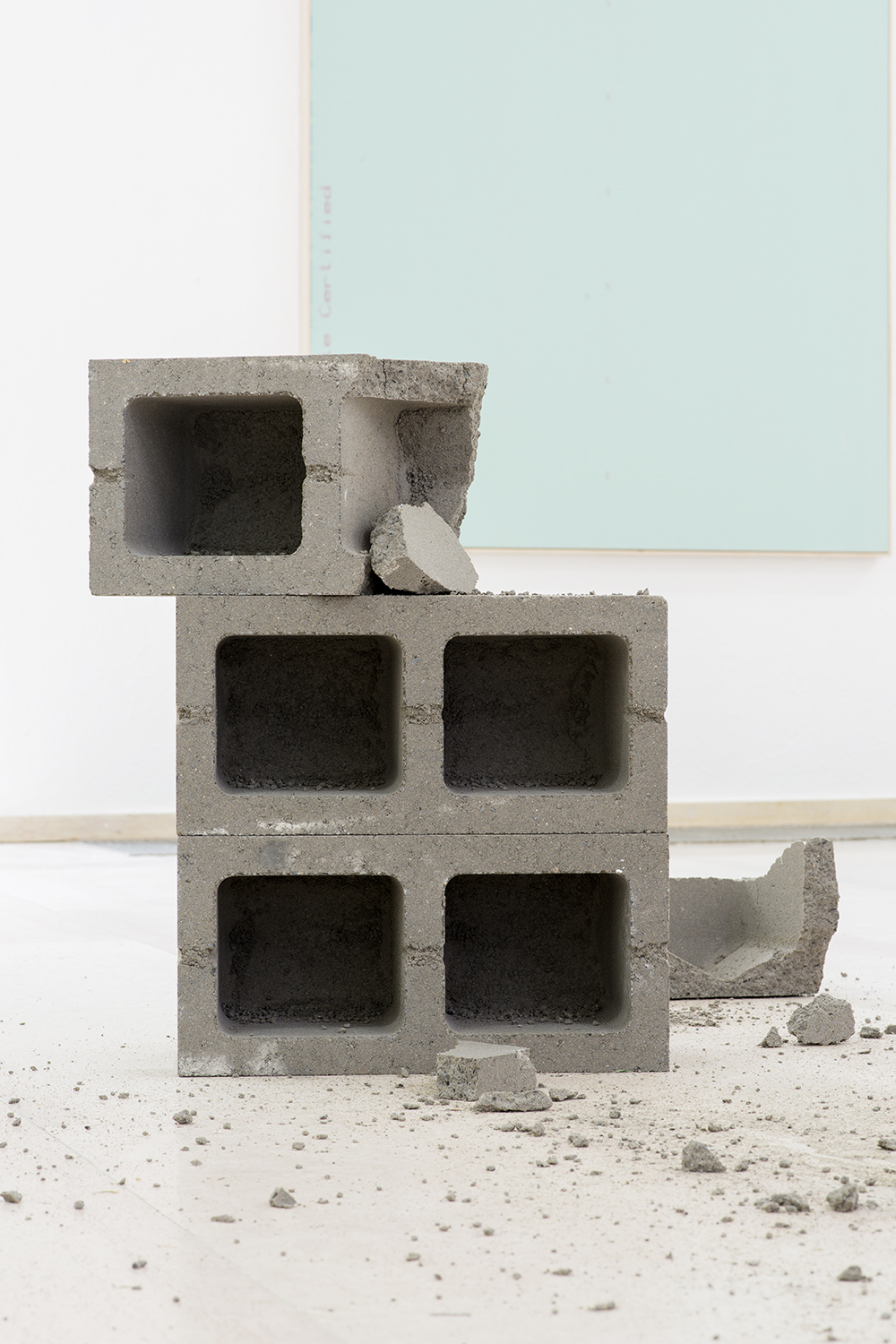 Dylan Lynch Untitled, 2014 Cinder blocks Dimensions variable