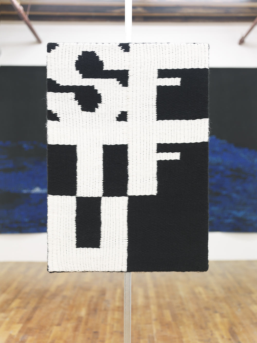 Stuff 2014 Woven wool on stretcher 58 x 48 inches
