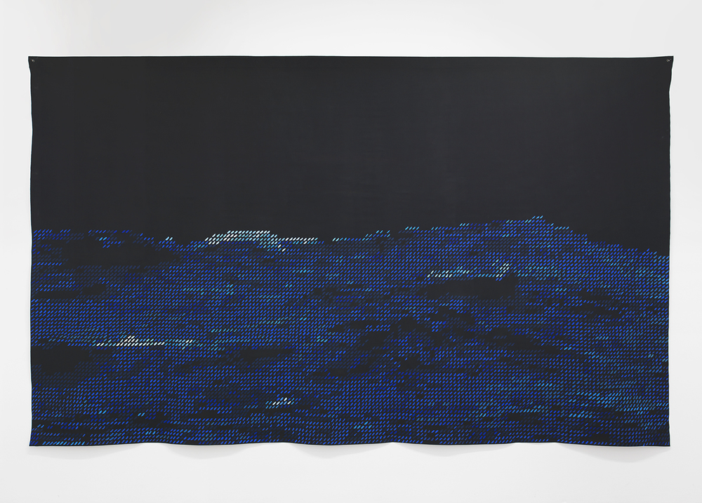 Blue Notes 2014 Oil on linen 92 x 150 inches