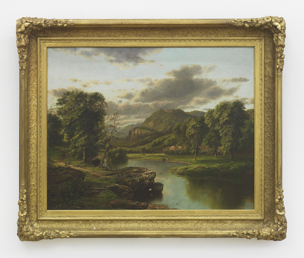William Mason Brown American Idyll, Late 1860's Oil on canvas 26.4 x 33 inches