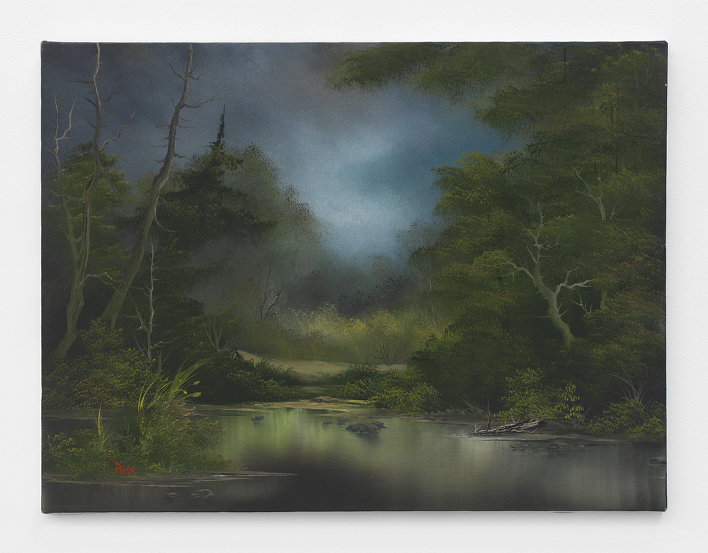 Bob Ross  Wayside Pond , 1991 Oil on canvas 18 x 24 inches