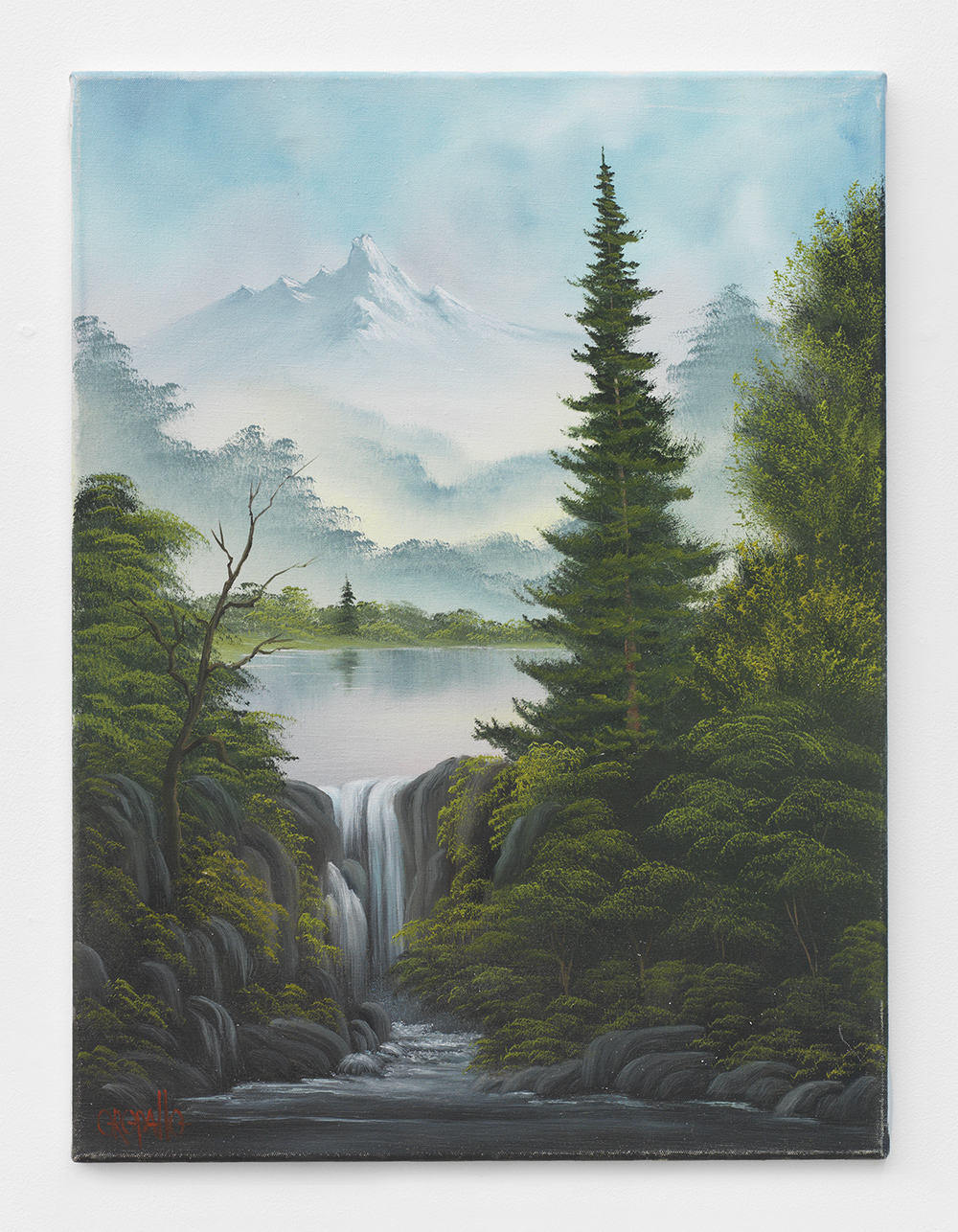 Bernie Oropallo  Wilderness Falls , 2014 Oil on canvas 24 x 18 inches