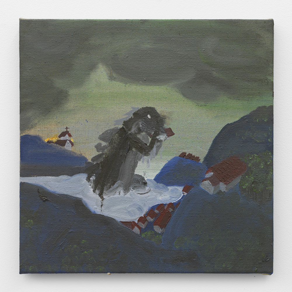 Eli Teller  Untitled , 2014 Oil on canvas 14 x 14 inches