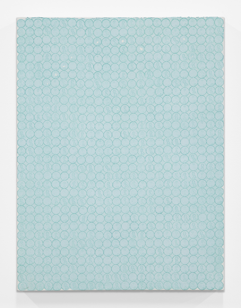 Nick Darmstaedter  Blow Dart , 2013 Oxidized copper on canvas 24 x 18 inches