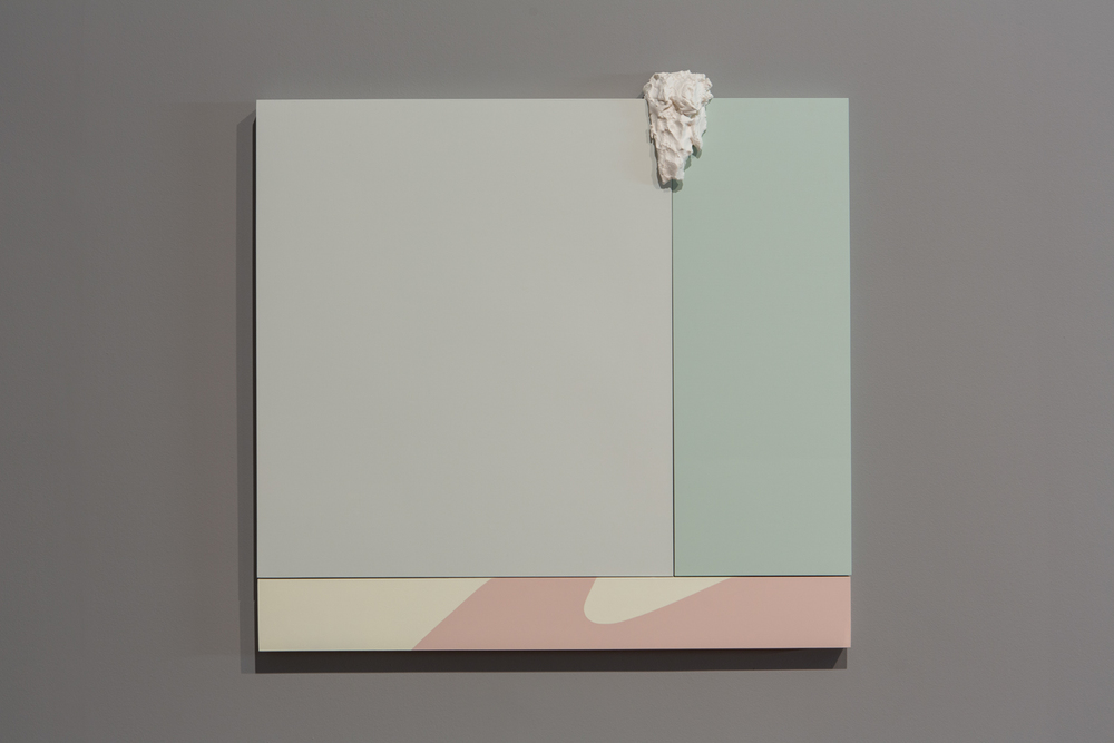 Alex Ito Ocean Waves (be yourself), 2014 Paint and plaster on wood panel 33 x 33.5 inches