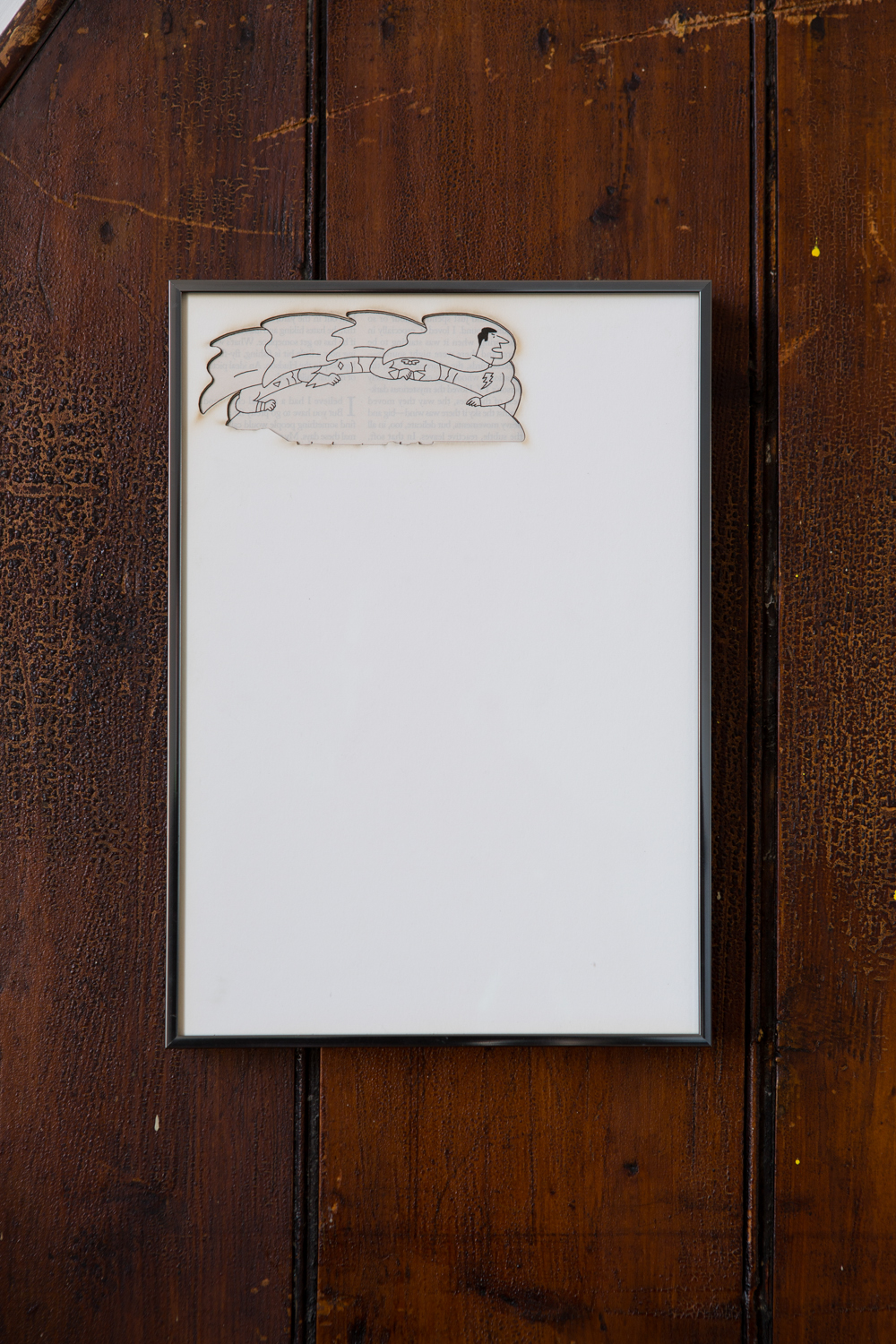 Zachary Susskind  (CONFERENCE)   Artifact: Language Barrier (Johan Rudolf Huber) , 2014 Cotton and paper in artist frame 11 x 8 inches