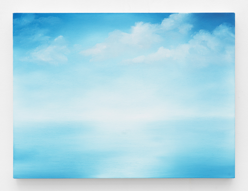 """Charm (Over """"Burundi Cloud""""), 2015 Oil on canvas 18 x 24 inches"""