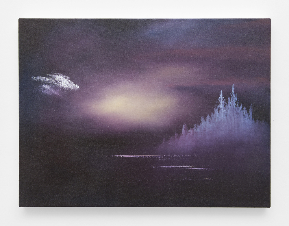 Human Realm Fog, 2015  Oil on canvas  18 x 24 inches