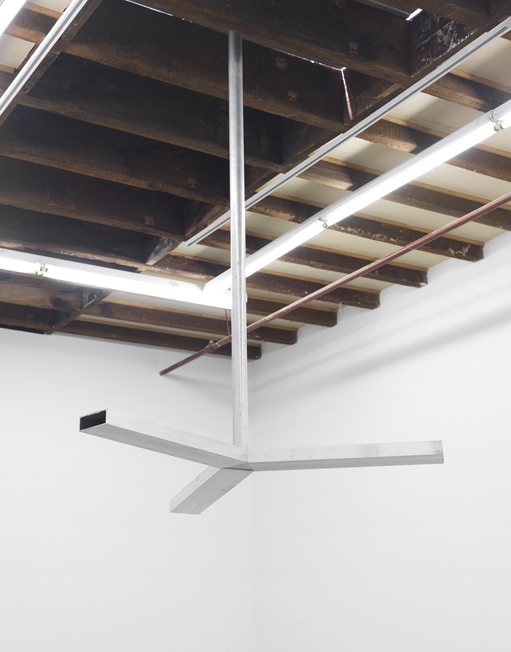 Untitled (propeller), 2015 Aluminum 64 x 50 x 50 inches
