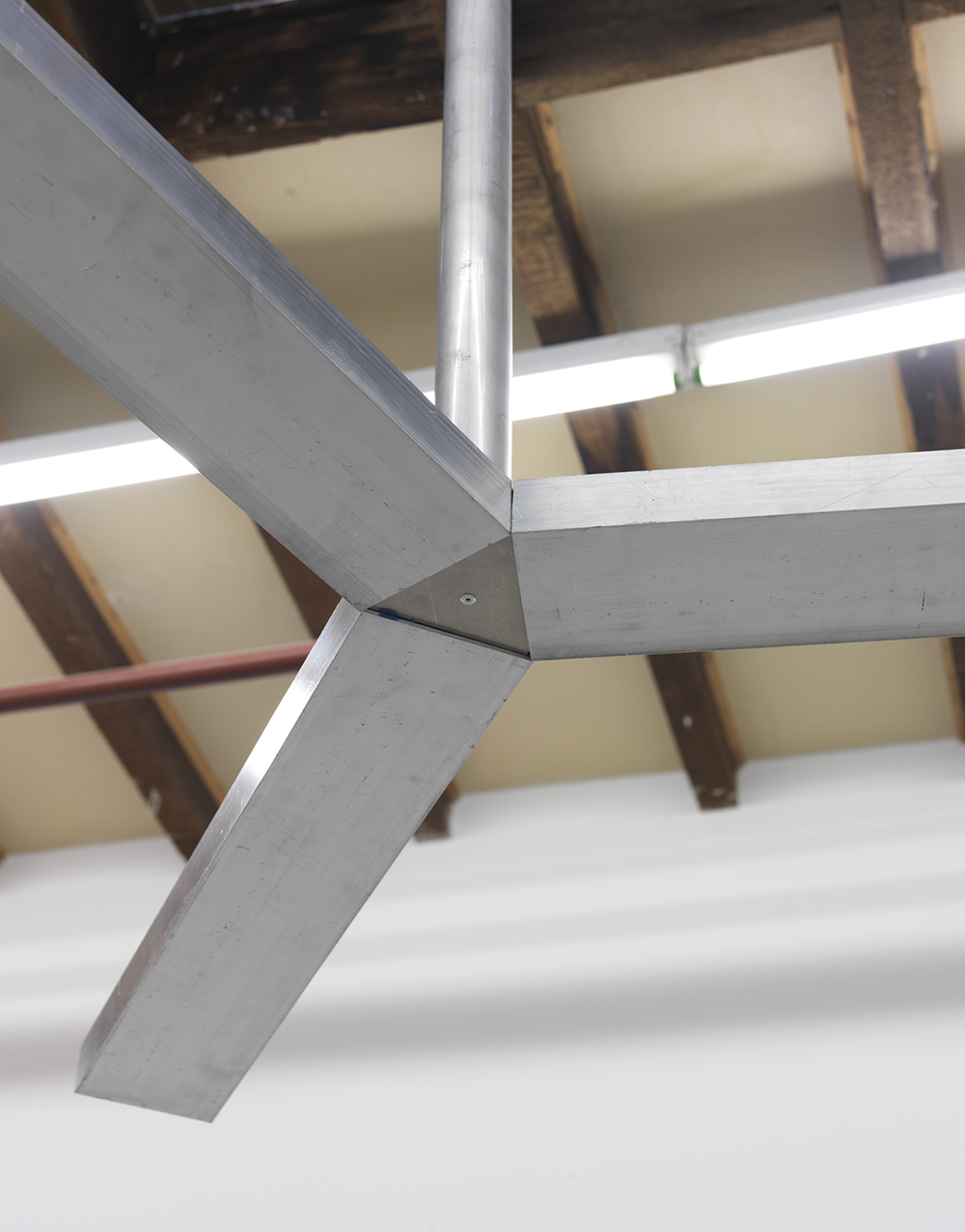 Untitled (propeller)  detail, 2015 Aluminum 64 x 50 x 50 inches