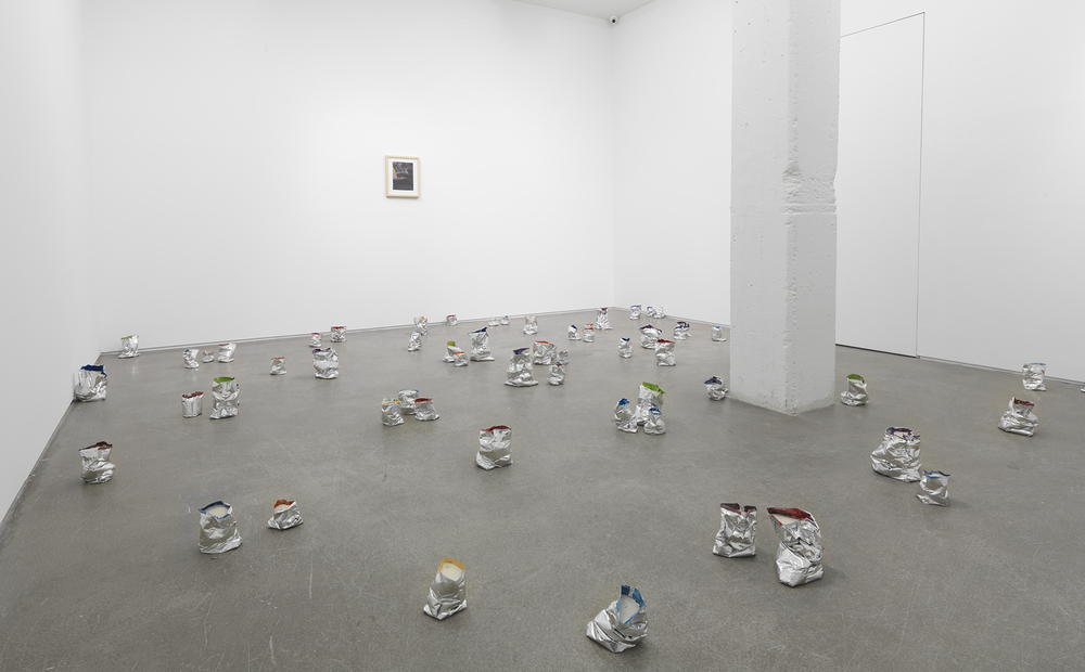 Yankee Two , 2013 Chip bags and concrete Dimensions variable