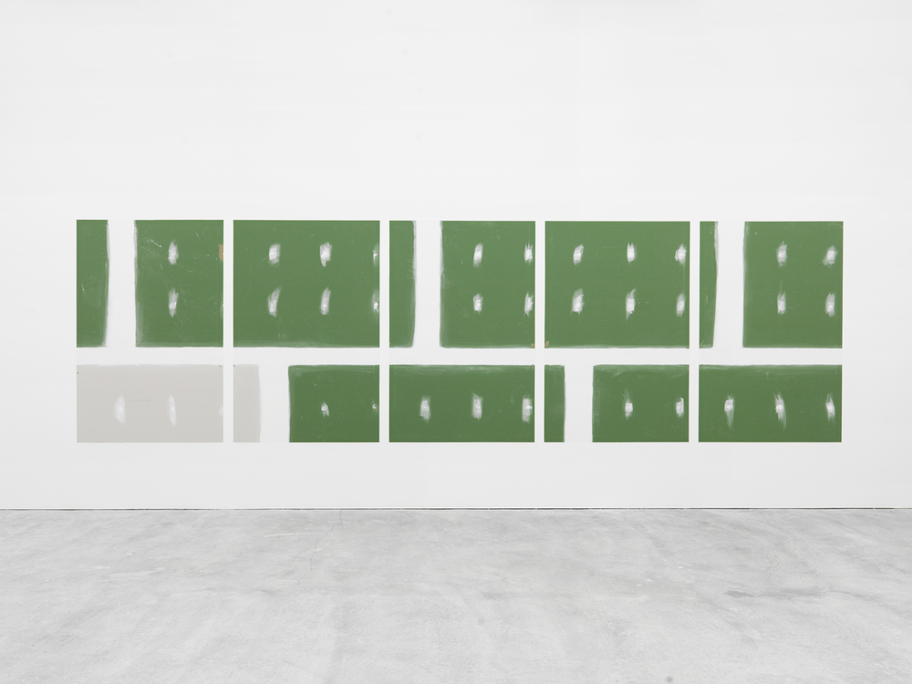 Early Retirement (Subprime), 2015 Unpainted gallery wall Dimensions variable