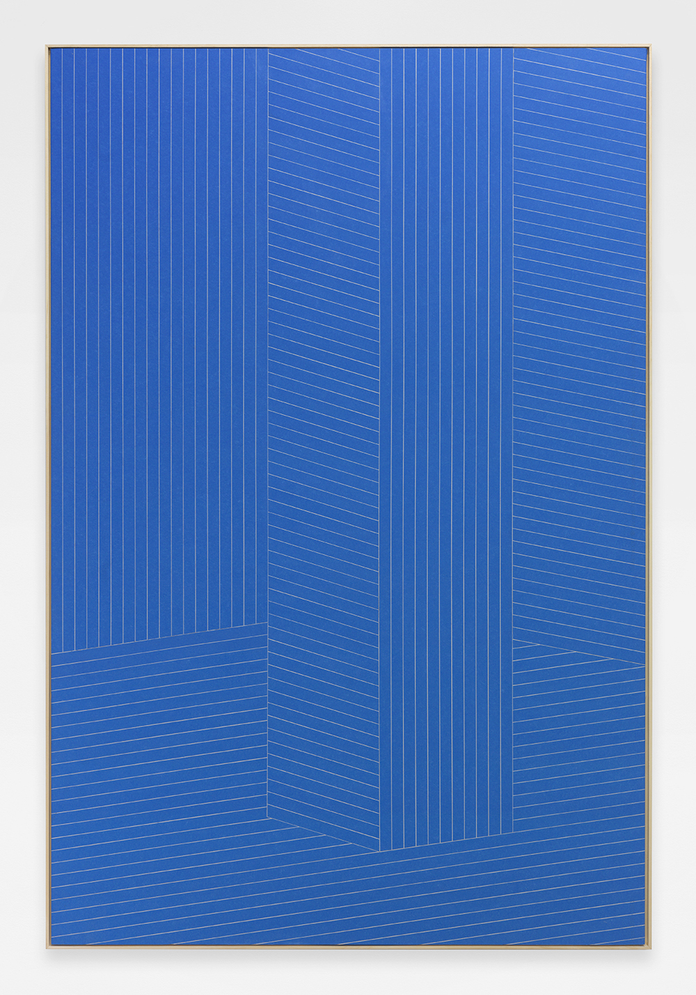 Low Tide, 2014 Painters tape, sheet rock, wood 72 x 48 inches