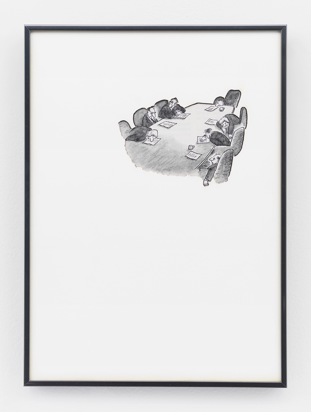 Artifact: Language Barrier (Francesco Brunery), 2014 Cotton and paper in artist frame 11 x 8 inches