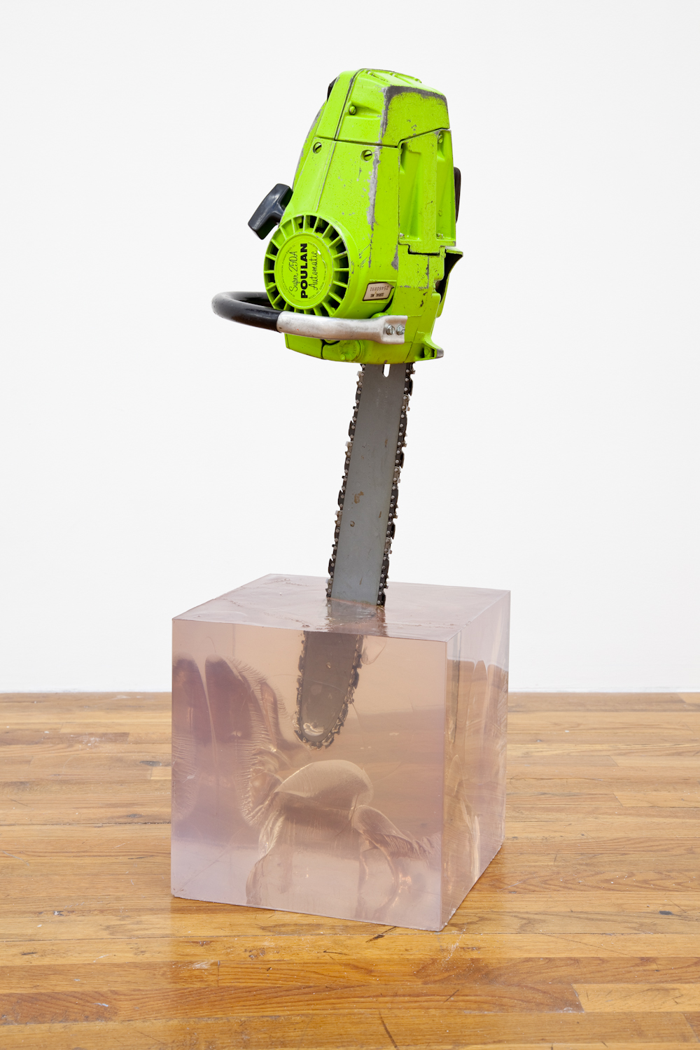 T.H WHITE, 2012 Chainsaw in resin 33 x 15 x 11 inches