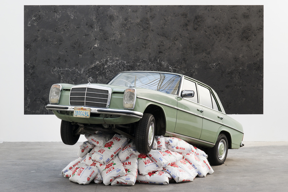 Rice Rocket, 2013 Car on rice 197 x 165 x 71 inches