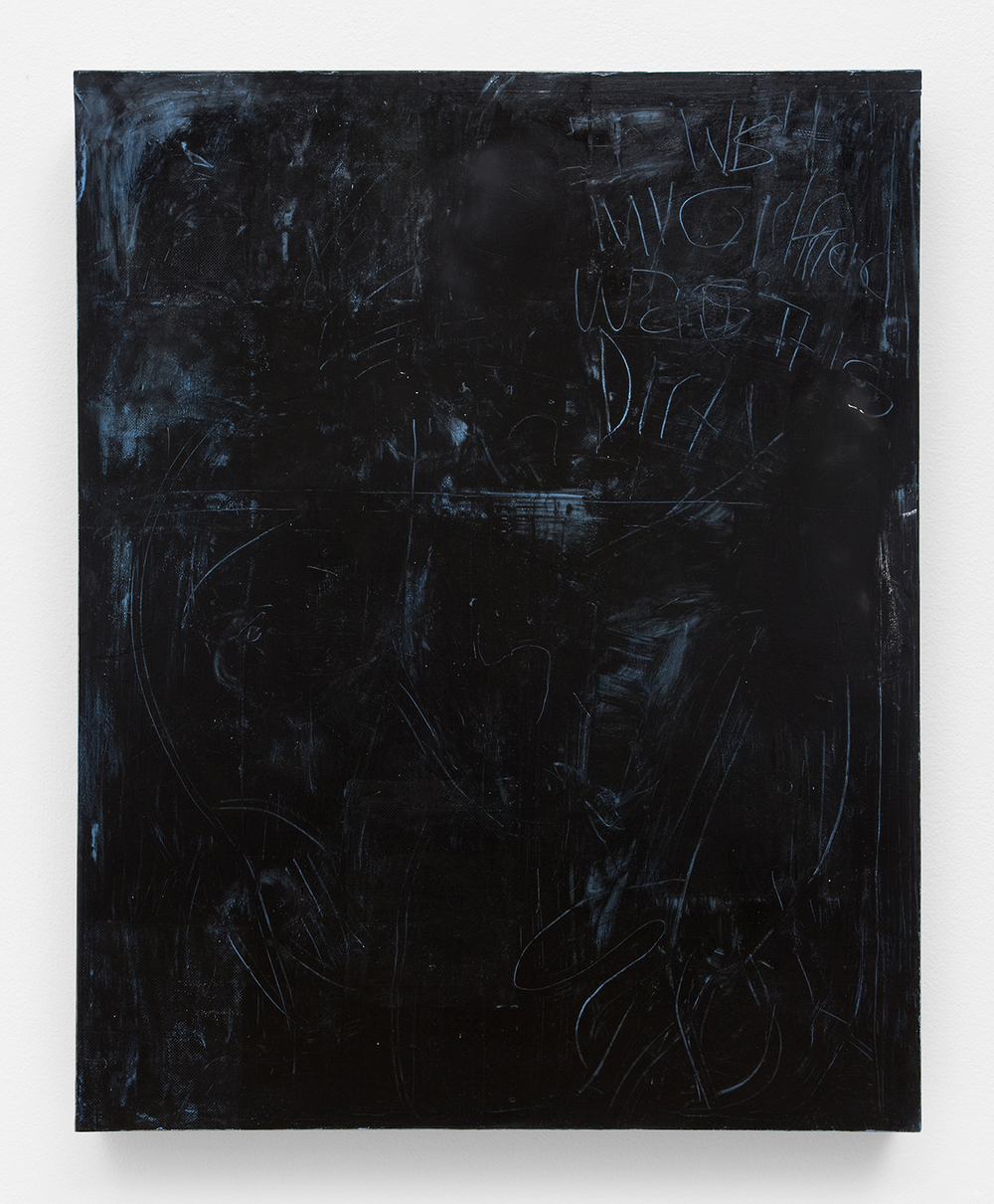 Black Girlfriend, 2012 Oil, sheetrock, joint compound, metal, wood 60 x 48 inches