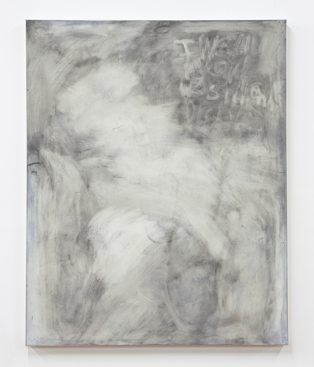 Graphite Girlfriend, 2012 Oil, sheetrock, joint compound, metal, wood 60 x 48 inches