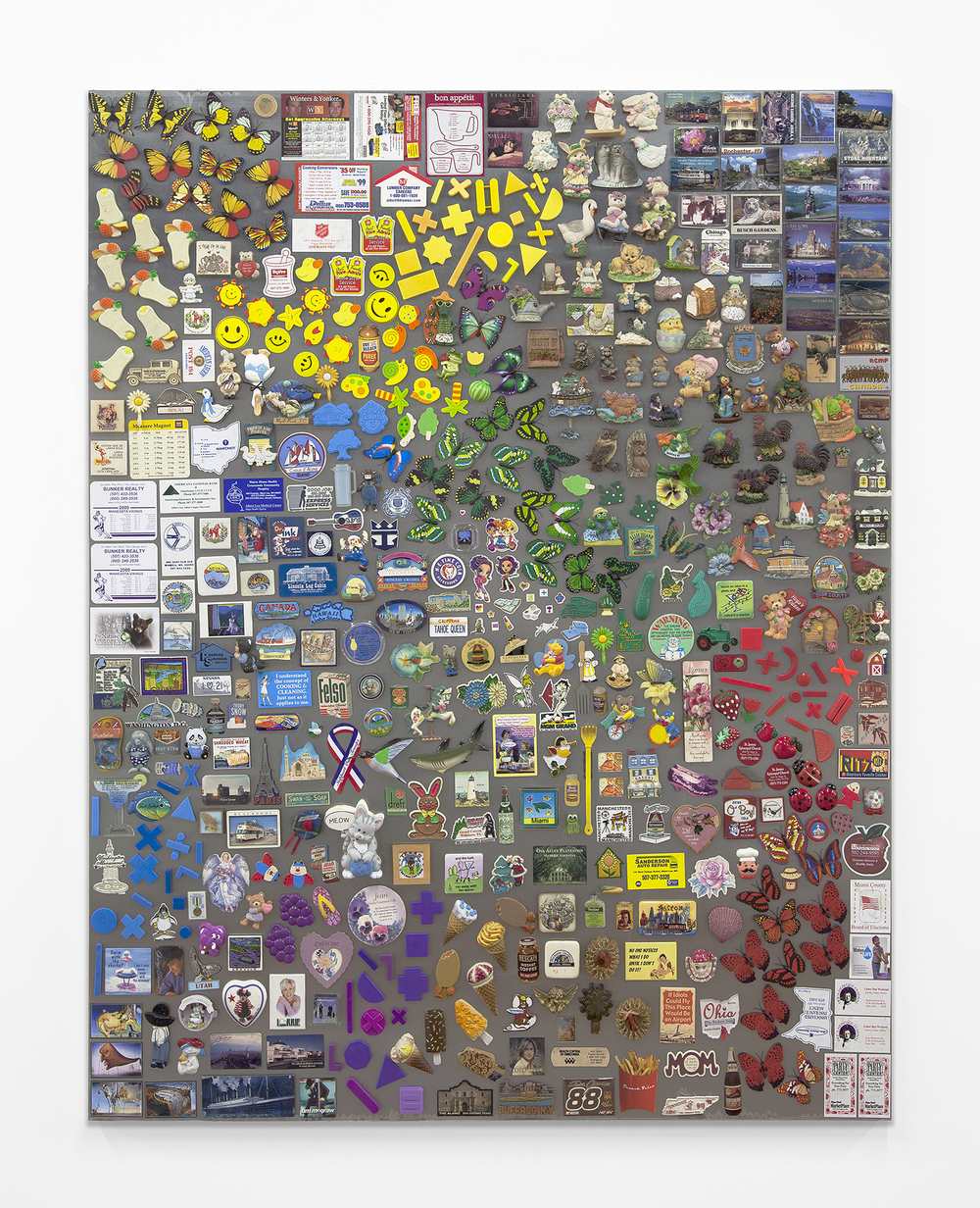 Muff, 2013 Magnets on steel 60 x 48 inches