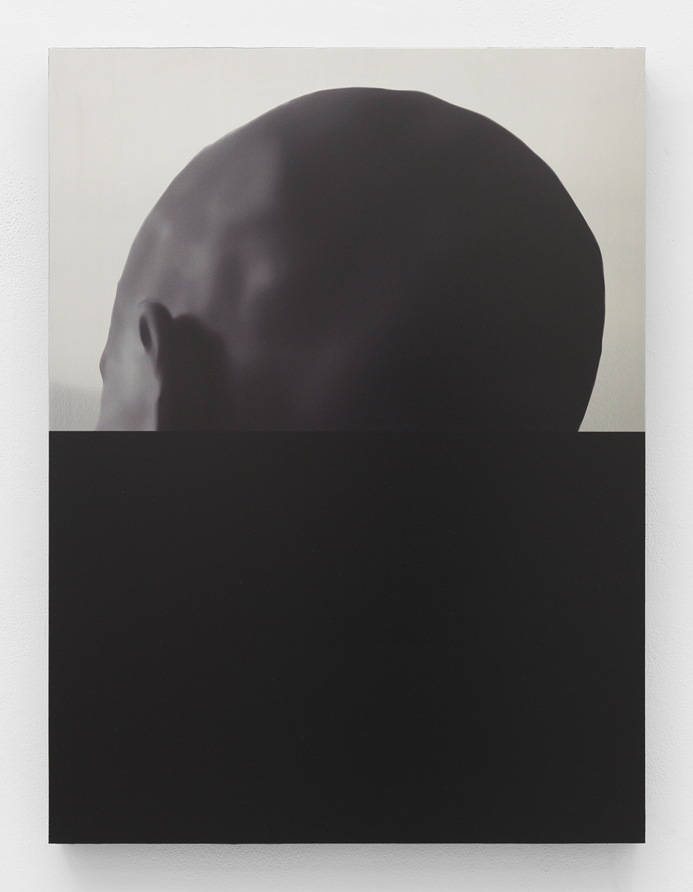 Dark, 2015 UV curable ink and metal etch on aluminum panel 24 x 18 inches