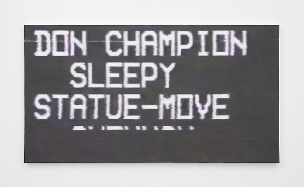 Don Champion , 2015 Oil on canvas 18 x 33.5 inches