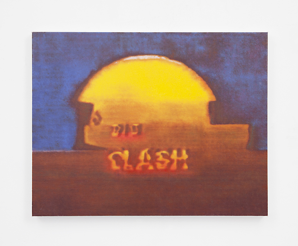 The Big Clash , 2015 Oil on linen 14.25 x 18.25 inches