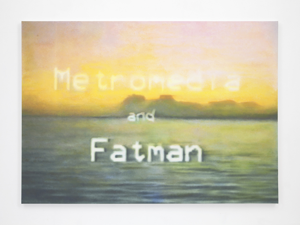 Metromedia and Fatman , 2015 Oil on canvas 44.5 x 63.5 inches