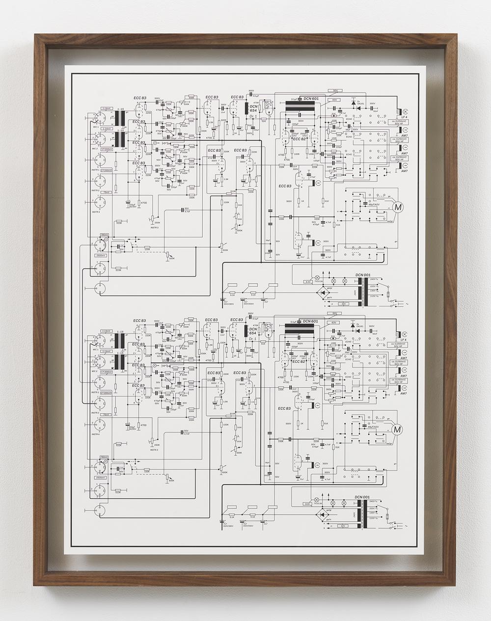 Echolette Cascade, 2015 Inkjet print in artist frame 33.75 x 25.75 inches