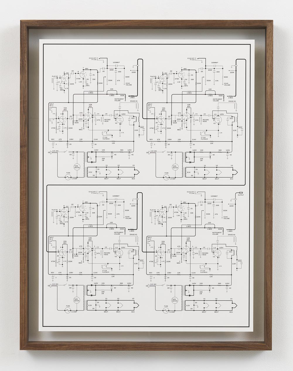 Echoplex Ep 1 Cascade, 2015 Inkjet print in artist frame 33.75 x 25.75 inches