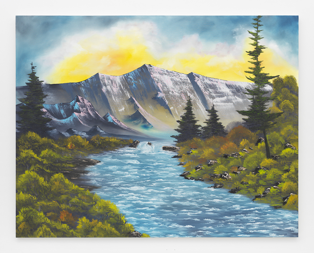 Bubbling Mountain Brook , 2014  Oil on canvas  66 x 84 inches