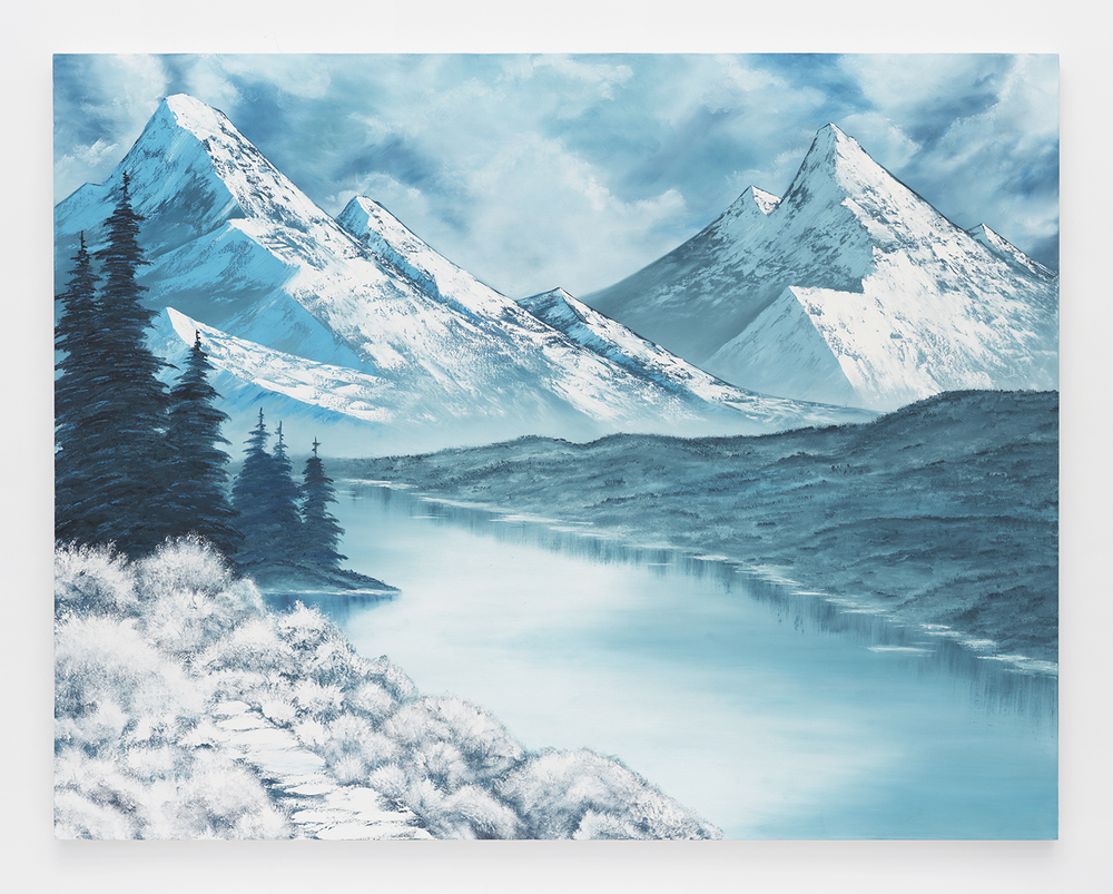 Frozen Solitude , 2014  Oil on canvas  66 x 84 inches