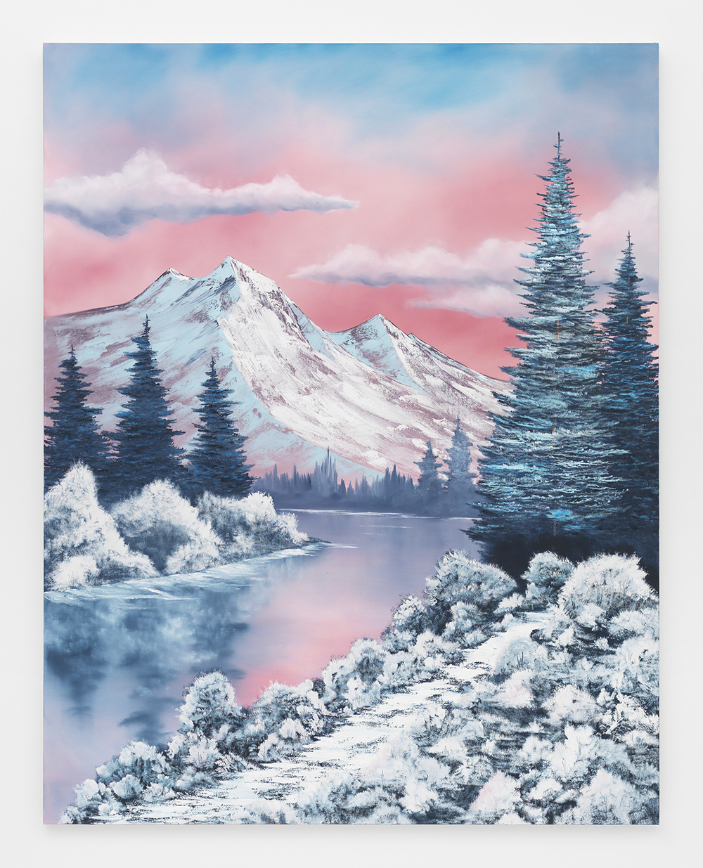 Winter Paradise , 2014  Oil on canvas  84 x 66 inches