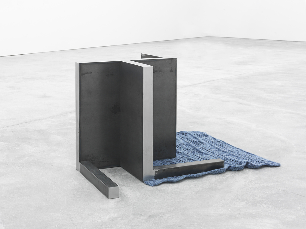 Dylan Lynch Return, 2015 Merino wool and steel 21.75 x 39 x 36.5 inches