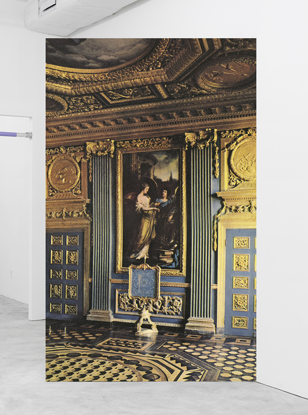 Louis Eisner Fancy View: Gold State Bedroom, 2015 Inkjet print on vinyl 108 x 66.25 inches