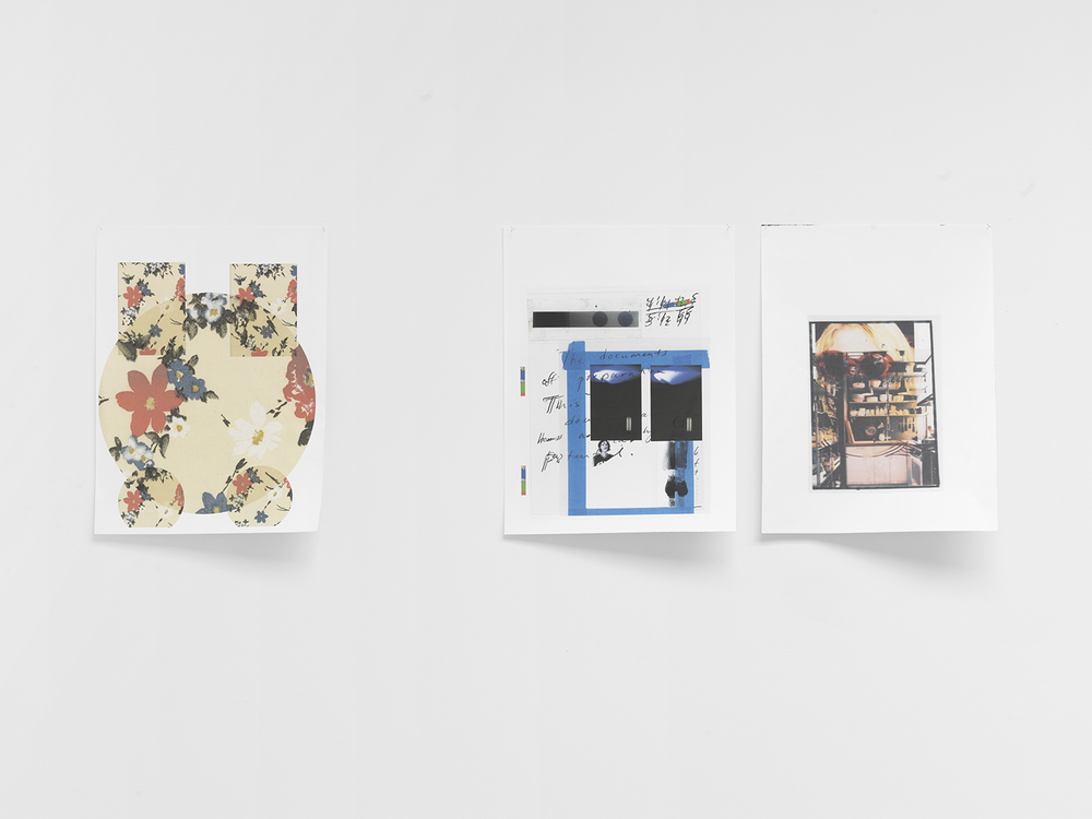 Drawings L-R: Floral Study, Document of Preparation, Kurt (Ikea), 2015 Epson UltraChrome inkjet on acid free paper 24 x 70 inches