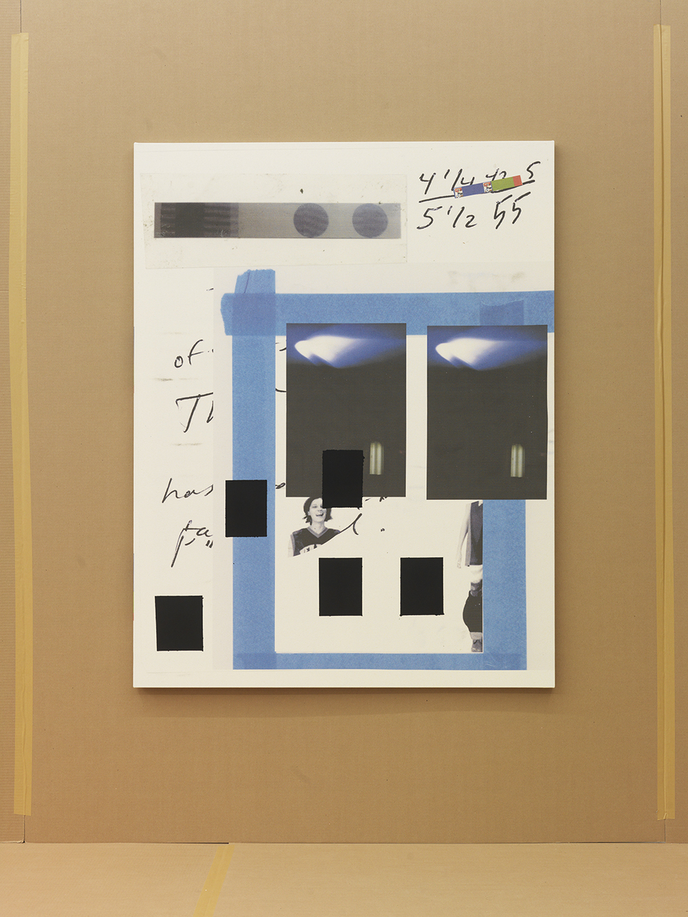 Untitled (Document of Preparation), 2015 Epson UltraChrome inkjet and acrylic ink on canvas 61 x 47 inches