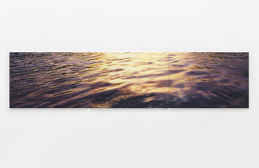 La Seine Behind the Trees in the Spring of 2015, 2015 Oil on canvas 42 x 180 inches