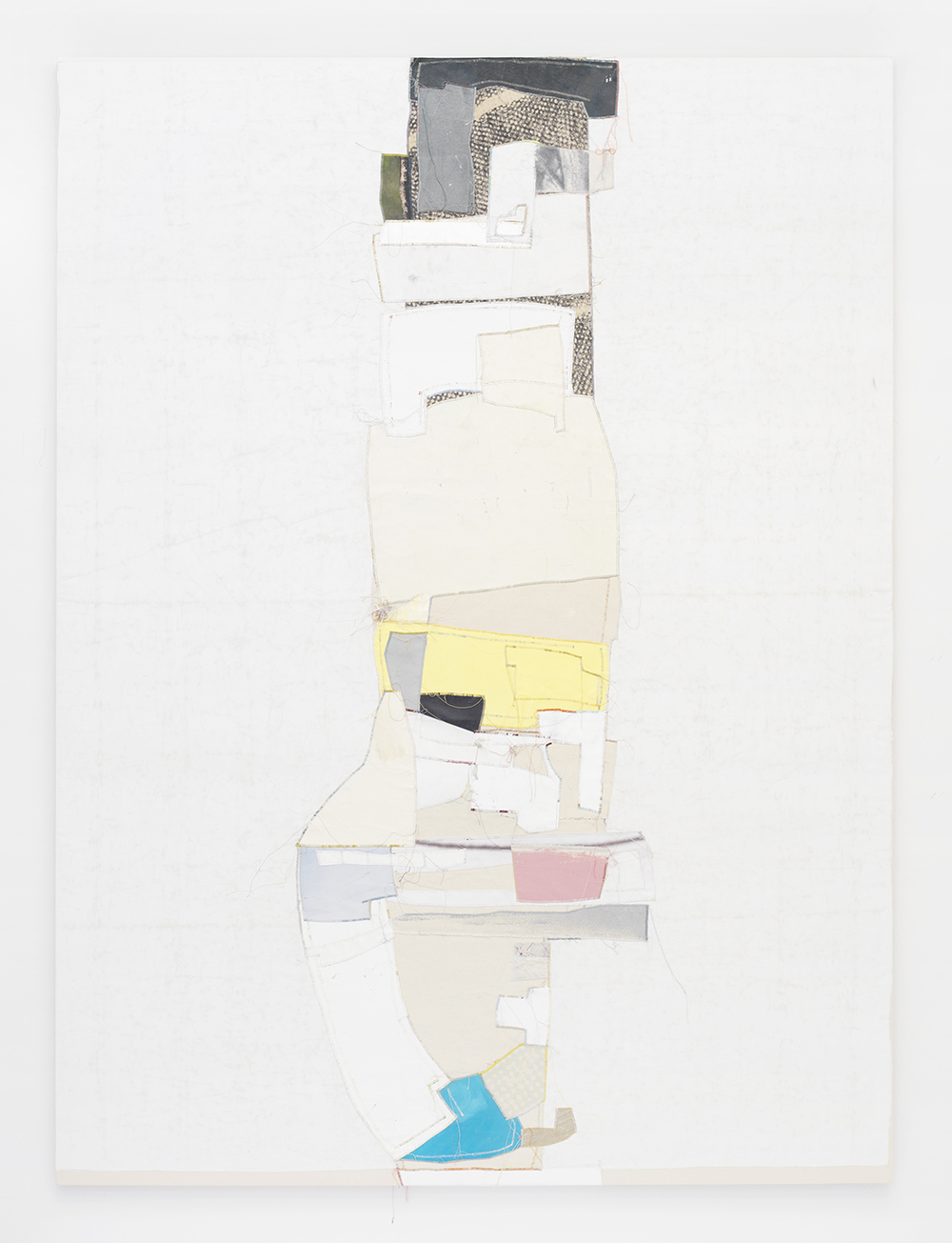Cruz, 2014 Canvas, thread and latex paint 108 x 80 inches