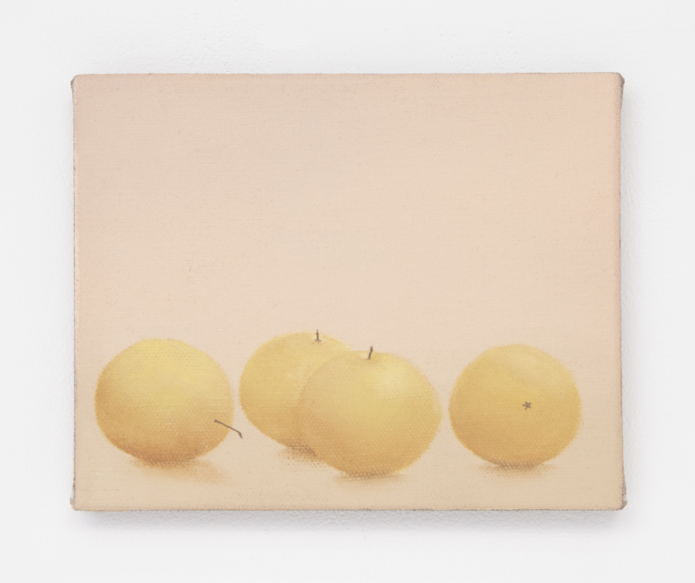 Still life with Asian pears, 2015 Oil on linen 8 x 10 inches