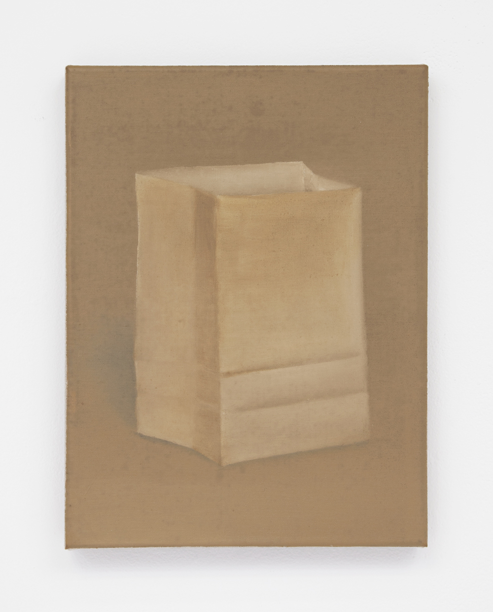 Brown bag, 2016 Oil on linen 12 x 9 inches