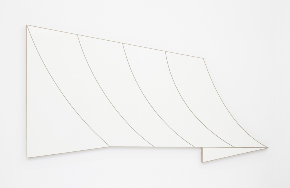 Dominic Samsworth Concave / Alabaster, 2016 Urethane alkyd enamel on linen 44 x 78.75 inches