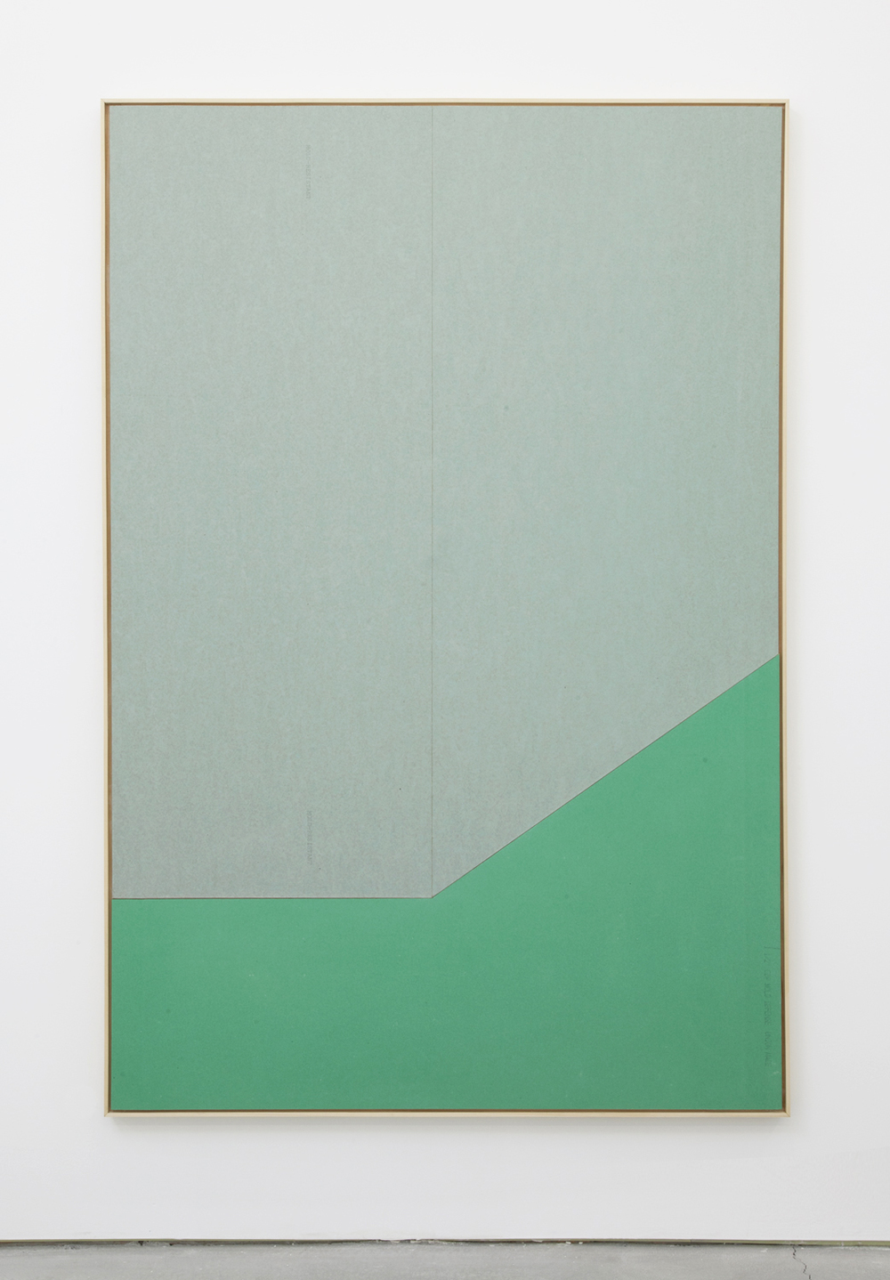 Isaac Brest  Larry Sanchez #1 , 2016 Various brands of drywall in artist frame 73 x 49 inches