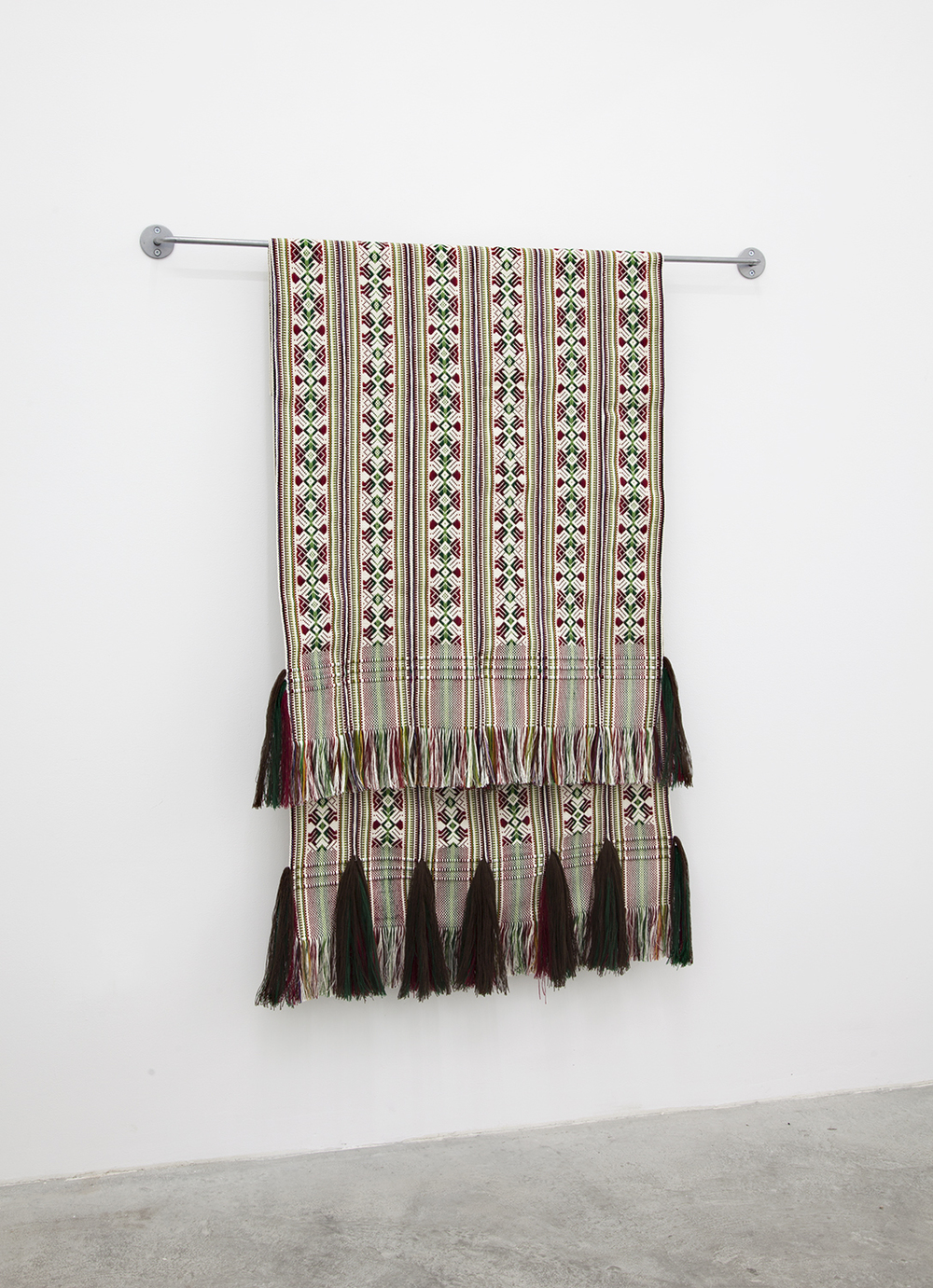 Indrė Šerpytytė  from. between. to . , 2016 Cotton and steel 45 x 39.25 x 4 inches