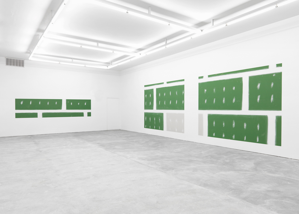Back Room:  Early Retirement (Subprime) , 2015 Unpainted gallery wall Dimensions variable
