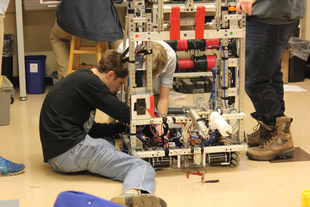 electronics- They have begun to design the electronics for the robot